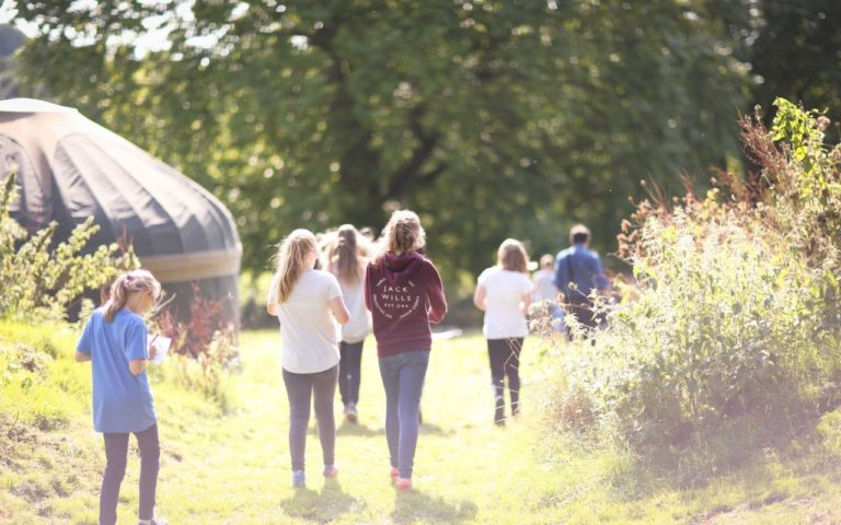 Children participating in outdoor activities at Sidcot School
