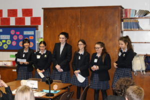 The Mount School girls presenting at the Faraday challenge