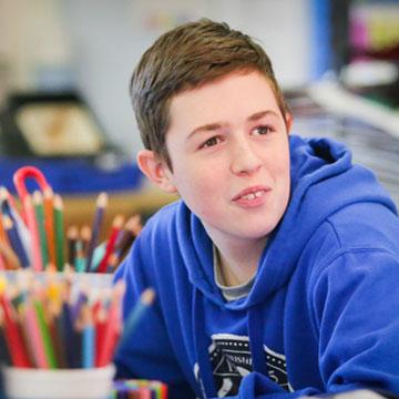 Vincent, student at Breckenbrough School