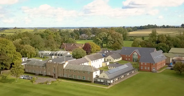 Aerial view of Sibford School