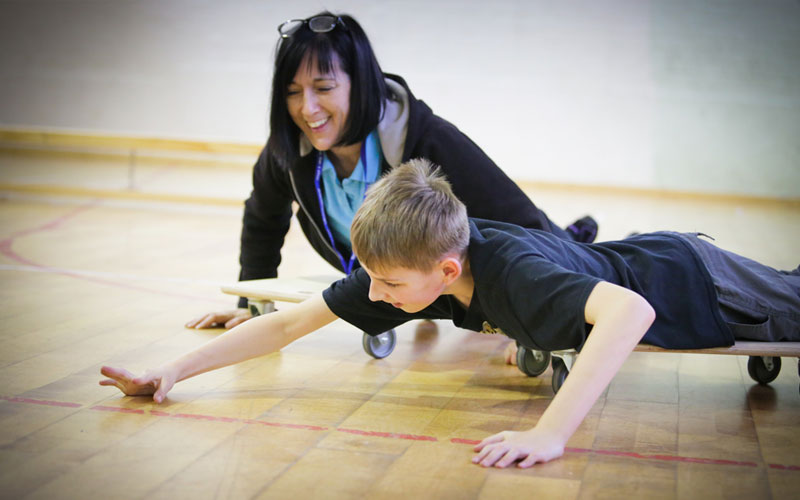 occupational therapy sessions at Breckenbrough school