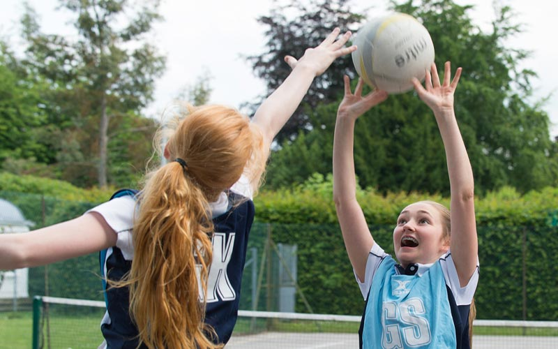 netball game at The Mount School