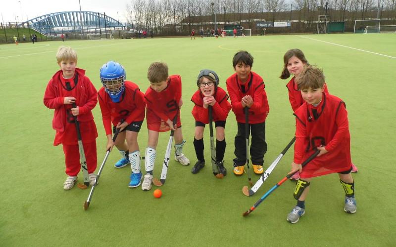hockey team at William Penn Primary School
