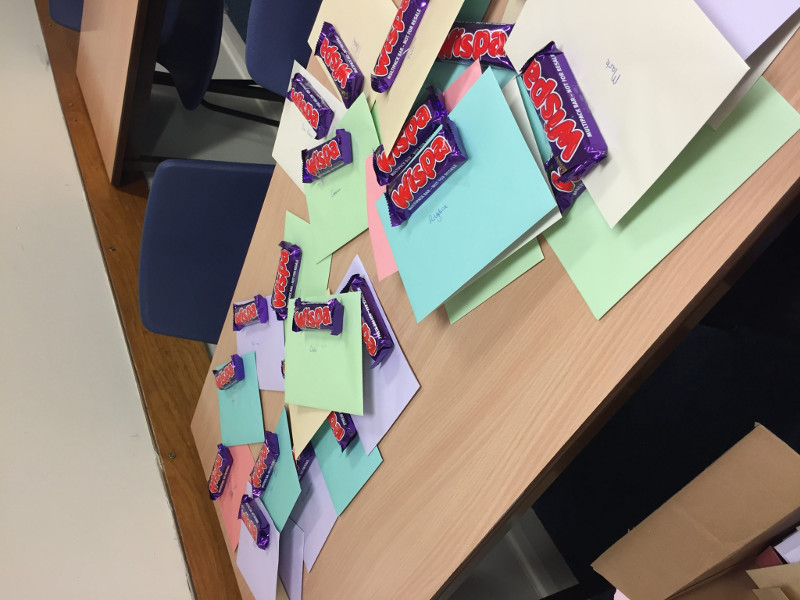 Bootham School Christian Aid fundraiser chocolates and personalised cards