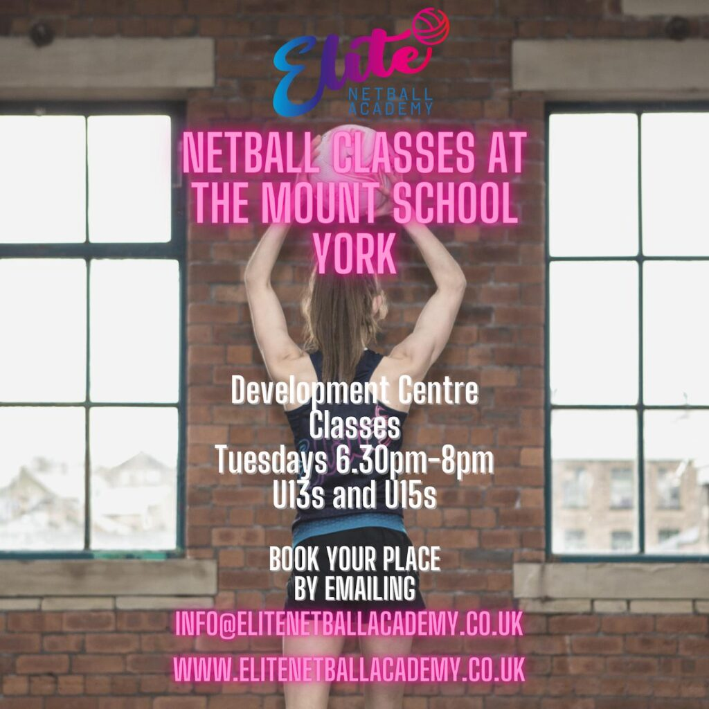 Netball class advertising poster